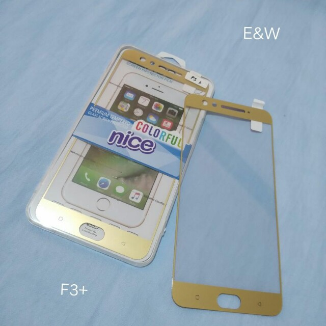 Tempered Glass Warna Oppo F3 Plus Mobile Phones Tablets Mobile
