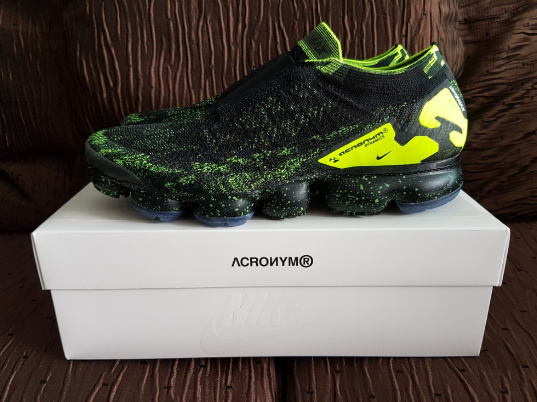 buy popular 54541 f4be4 US9.5 Nike Air Vapormax Moc 2 Acronym Black Volt, Mens Fashion, Footwear  on Carousell