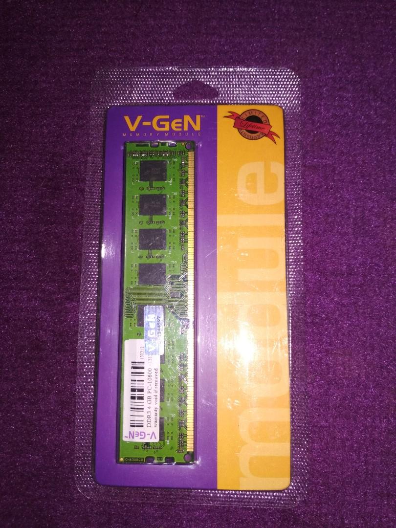 Vgen Ddr3 4gb Pc 10600 1333 Elektronik Bagian Komputer Aksesoris Ddr 3 2gb Di Carousell