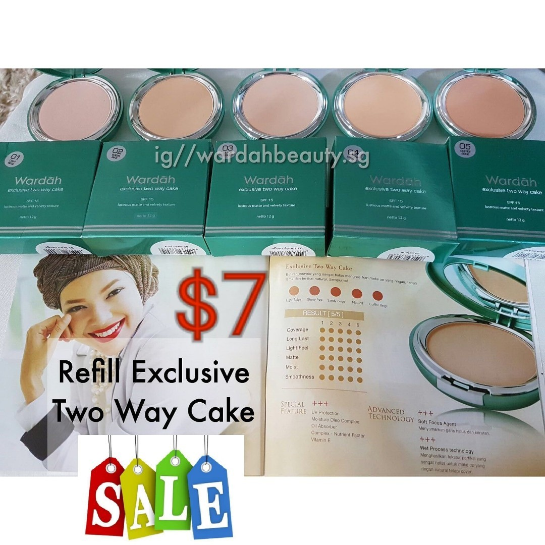 Wardah Powder Foundation Refill Exclusive Twc 01or 02 7nett Price Lightening Two Way Cake Light Feel 03 Price03 Or 04 05 9nett Cosmetic Make Up Halal Health Beauty