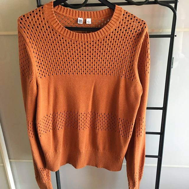 4014766fc WOMEN Uniqlo U Cotton Mesh Crew Neck Sweater