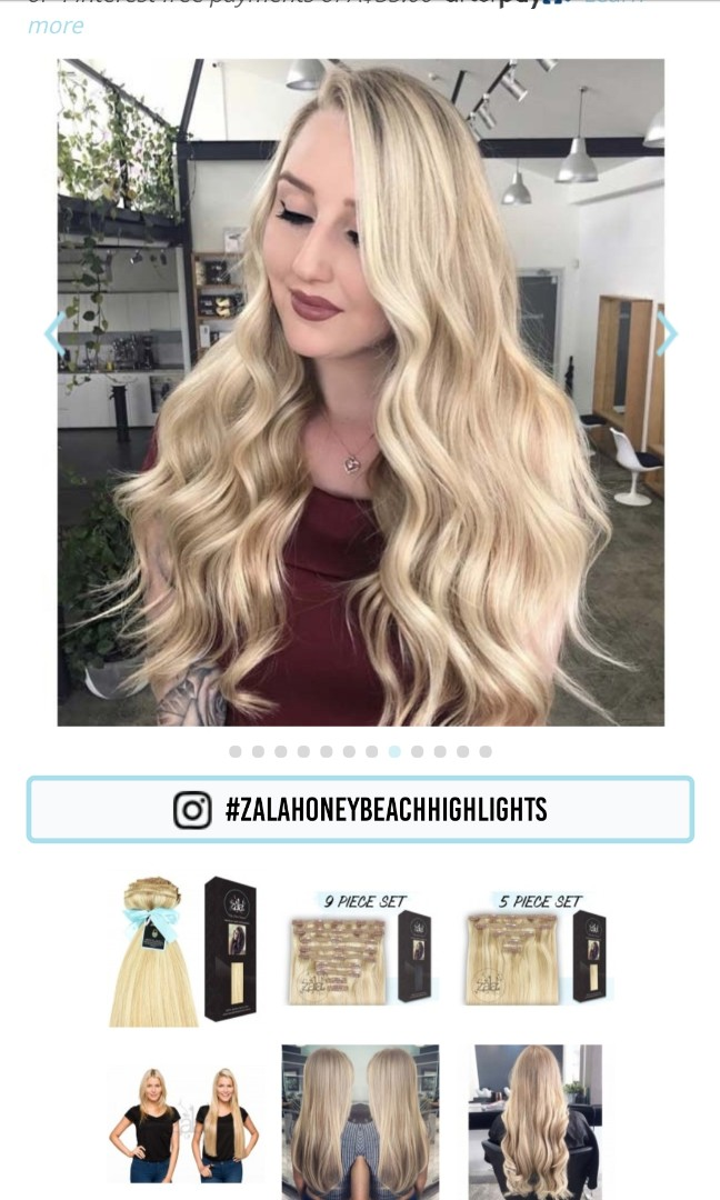 Zala Hair Extensions Honey Beach Highlights 20 Inch Quad Weft Lace