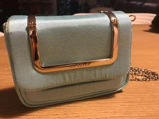 Ted baker Tiffany blue wallet on chain 小手袋