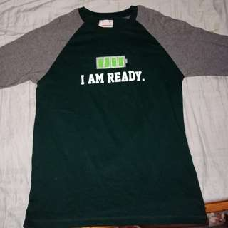 I AM READY. 3/4 TEE From BENCH