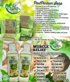 Organic Healing Soap and Massage Oil Best Combo