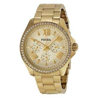 CECILE MULTIFUNCTION GOLD DIAL GOLD-TONE LADIES WATCH AM4482