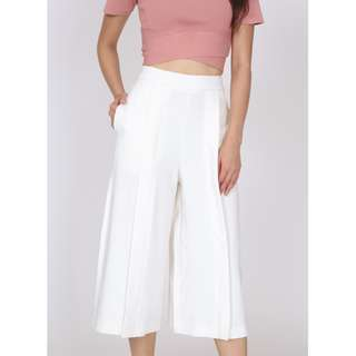 MDS Pleated Culottes in White