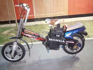 Ebike suv7 for sell. Pls take note. This ebike got no paddle no key box no light  so need to repair by yr own...use trottle only. What u see what u get