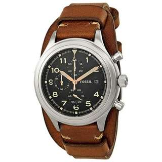 COMPASS CHRONOGRAPH BROWN LEATHER MEN'S WATCH JR1432