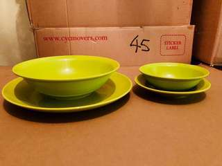 Melamine Plates, Bowls (used and new)