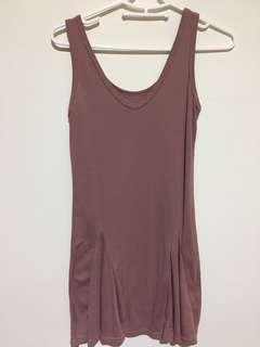 🚚 紫藕色背心洋裝