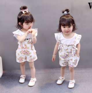 Baby children's clothes 2 years old girl short-sleeved