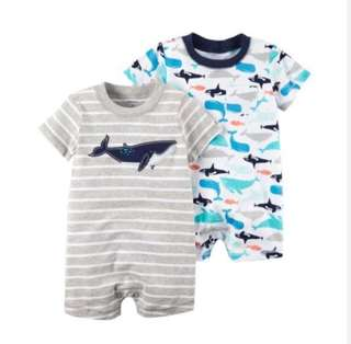 *6M* BN Carter's Snap Up Cotton Romper For Baby Boy