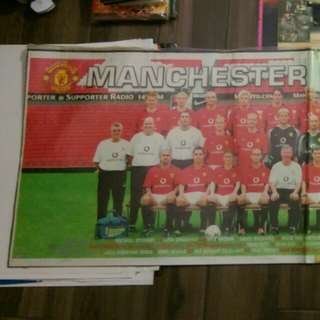 Manchester United Poster 60*22吋曼聯泰國兩張駁長板