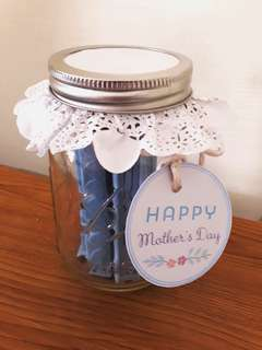 D.I.Y Mother's Day Gift Jar - Mum likes Blue