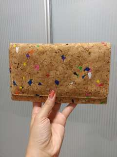 Colorful Wallet Bag on chain (cork material)