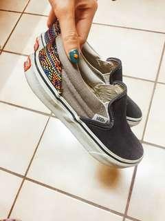 🚚 VANS日本購入懶人鞋(前牛仔後編織)