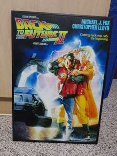 BACK TO THE FUTURE 2 WOODEN-FRAMED POSTER