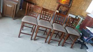 Set of four bar height chairs