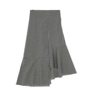 Korean B&W Checkered Skirt