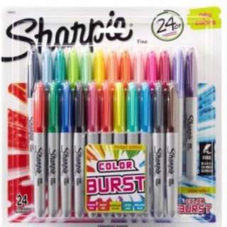 BN Sharpie Color Burst Fine Point 24s