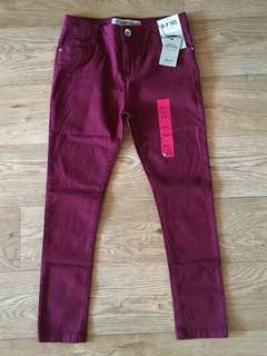 [readystock] Primark girls skinny fit denim trouser/pants (8-9y) - adjustable waist