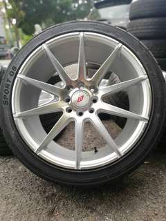 Vossen inforged 17 inch sports rim almera tyre baru * below market price *