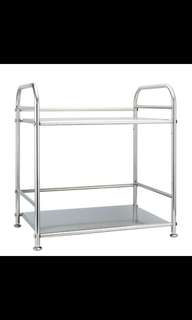 Stainless Steel microwave oven 2-tier shelf