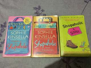 Shopaholic Series (1,2 and 4) by Sophie Kinsella