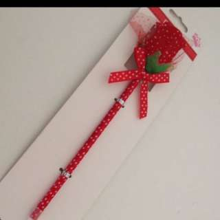 Red polka dots rose ball point pen (Mother's Day Gift)