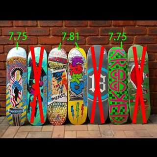 Skateboarding deck - krooked