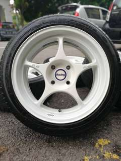 Enkei rpo1 17 inch sports rim persona tyre 80%. * below market price *