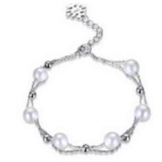 S925 Sterling Silver  Small Fresh Pearl Bracelet