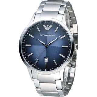 正品 EMPORIO ARMANI AR2472 經典簡約內斂時尚腕錶 AR2472 男錶