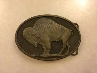 1975 Vintage Adezy Brass Belt Buckle
