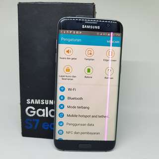 Samsung Galaxy S7 Edge Single Minus Garis Pink Vertikal Fullset