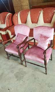 Pair of antique accent chairs