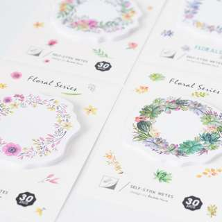 Floral Wreath Post-its /sticky note