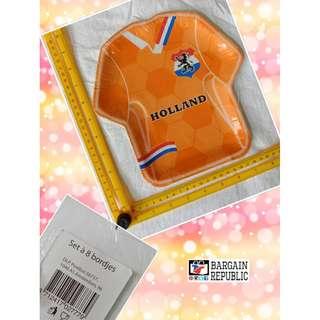 Holland T Shirt Shape Paper Plate Set of 8