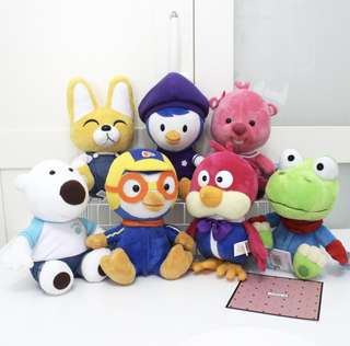 Pororo and friends soft toy