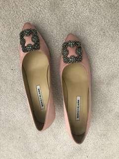Pink Manolo Blahnik shoes