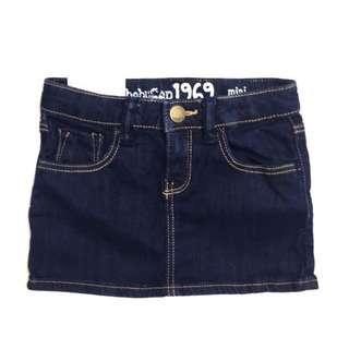 🚚 全新babyGap 童裝女童超柔軟彈性牛仔短裙 休閒裙子 可愛小短裙 babyGap 1969 mini jean 3y