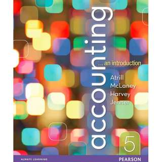 Accounting an introduction 5th Edition