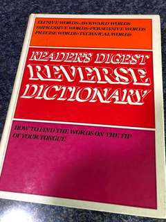 Readers digest reverse dictionary
