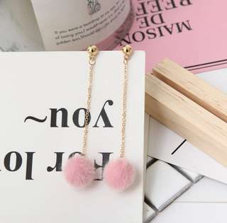 [#7] Cute Korean Long Furry Earrings