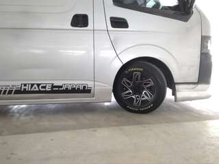 "15"" offset rims for hiace"