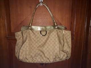 Gucci gold shoulder bag (ori)