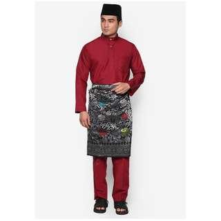 Baju Melayu Moden Amar Amran  (Maroon - AA1035BM)