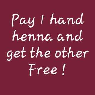 Free henna!