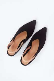 Fayth Minton Pointed Suede Flats